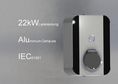 CrOhm 22 kW Ladestation Wandmontage