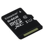 Kingston 64GB MicroSD Class 10 + SD Adapter
