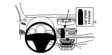 Brodit Renault Fluence Mounting Bracket Top