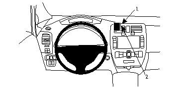 Brodit Nissan Leaf Grundhalterung