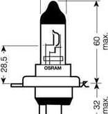 Osram H4 12V bulb
