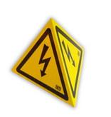 """CATU Tetraedrisches Warnzeichen """"Blitzpfeil"""" mit Magnetfuß"""