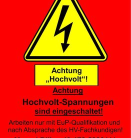 HV Warnschild