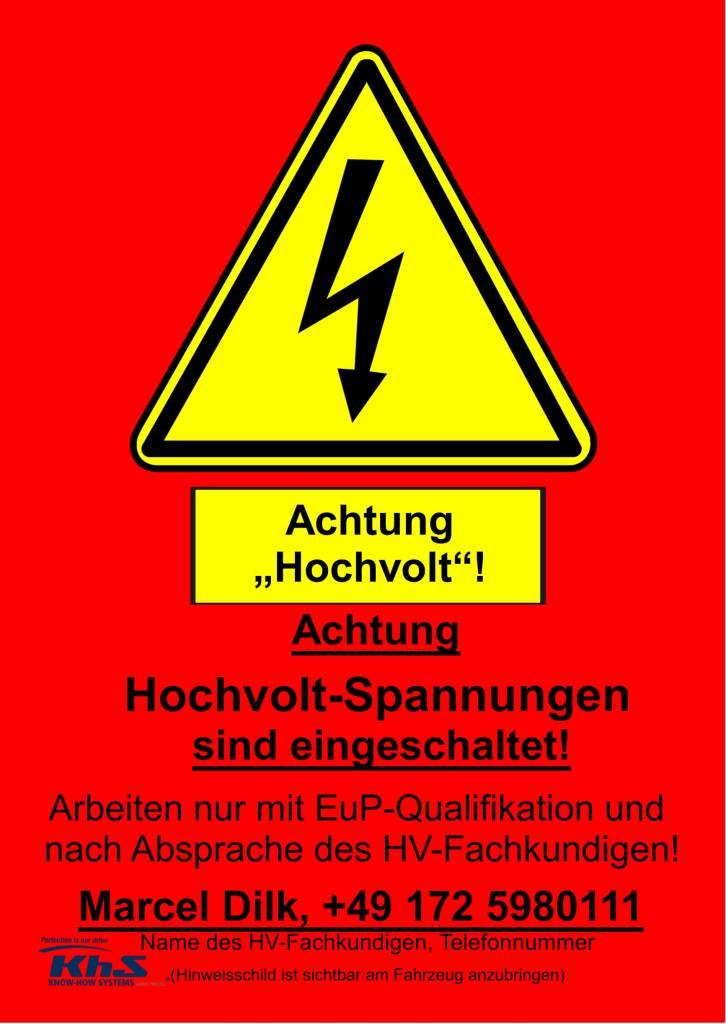 HV Warnschild