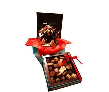 CHOCOLADE HUISJE EN LUXE DOOS BONBONS