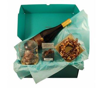 CHRISTMAS CHOCOLATE BOX WITH A BOTTLE PONTE VIRO