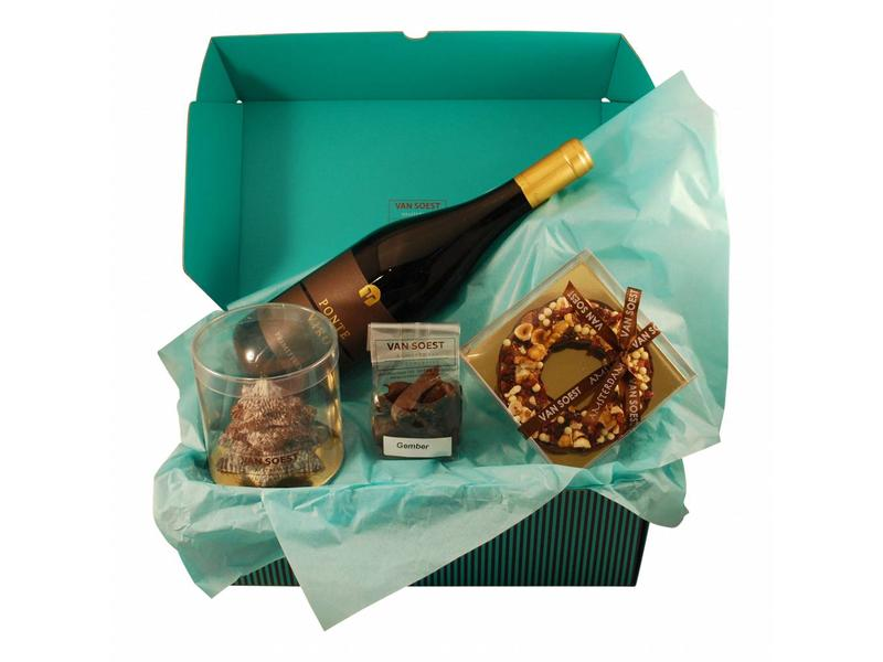 CHRISTMAS CHOCOLATE BOX WITH A BOTTLE PONTE VIRO