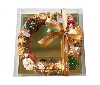 CHOCOLATE CHRISTMAS WREATH