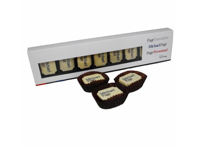 CHOCOLATES WITH COMPANY LOGO
