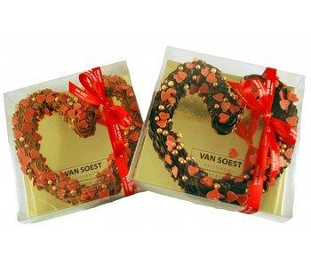 CHOCOLATE HEART CRISPY PEARLS
