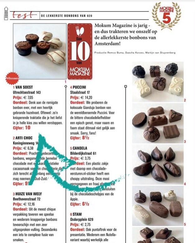 Mokum Magazine, beste chocolatier van Amsterdam