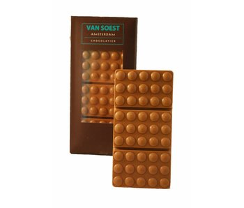 GEVULDE CHOCOLADE REEP HAZELNOOT PRALINE