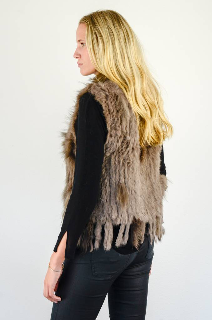 Bruin Bont Fluffy Vestje