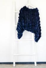 Blauwe Bonte Poncho