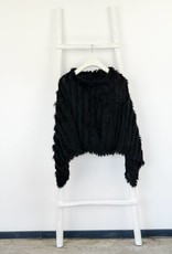 Zwart Bonte Poncho