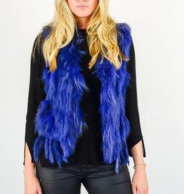 Blauw Bont fluffy vestje