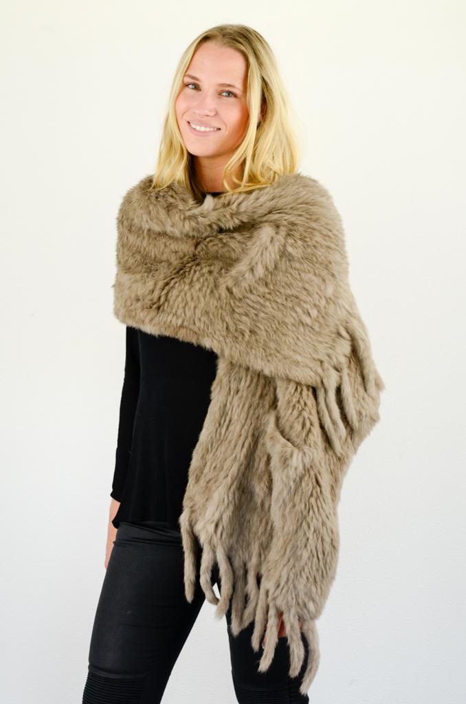 bruine bonte shawl