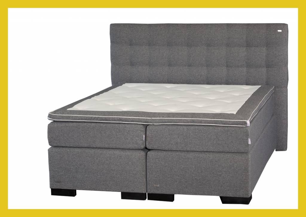 Boxspring Slaapkamer Set : Bed2U DELUXLINE Boxspring Grijs Compleet ...
