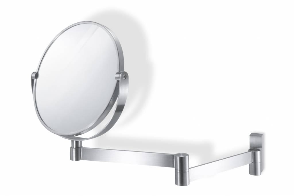 Fresco linea miroir t lescopique 18cm mat rvs 40109 Miroir telescopique