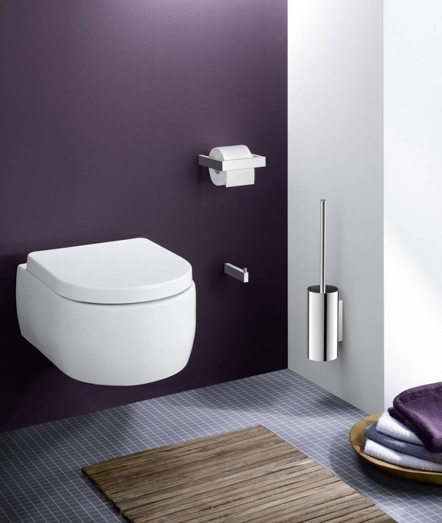 Zack Bathroom Mirrors linea toilet paper holder 40031 (gloss) - bath & living