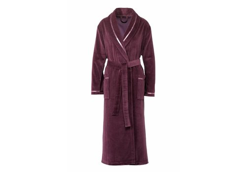 Vandyck AVANTGARDE bathrobe Aubergine-022