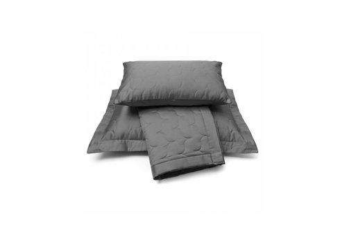 Vandyck Bedspread SATIN Anthracite-081 (dark)