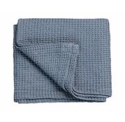 Vandyck Bedspread waffle blanket HOME 71 Faded Denim (blue)