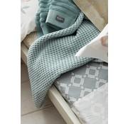 Vandyck Pique waffle blanket HOME Celadon Green-402 (mist green)
