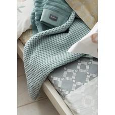 Vandyck Waffle pique blanket HOME Celadon Green-402 (green mist)