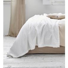 Vandyck Waffle pique blanket HOME White-090 (White)