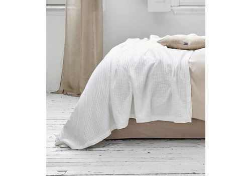 Vandyck Waffle pique blanket HOME White-090 (White)