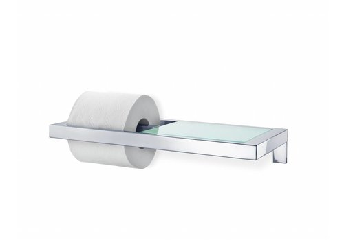 BLOMUS MENOTO toilet roll holder with glass plate (gloss)