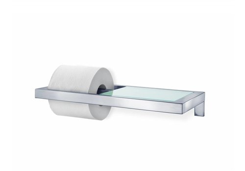 BLOMUS MENOTO toilet paper holder with glass plate (mat)