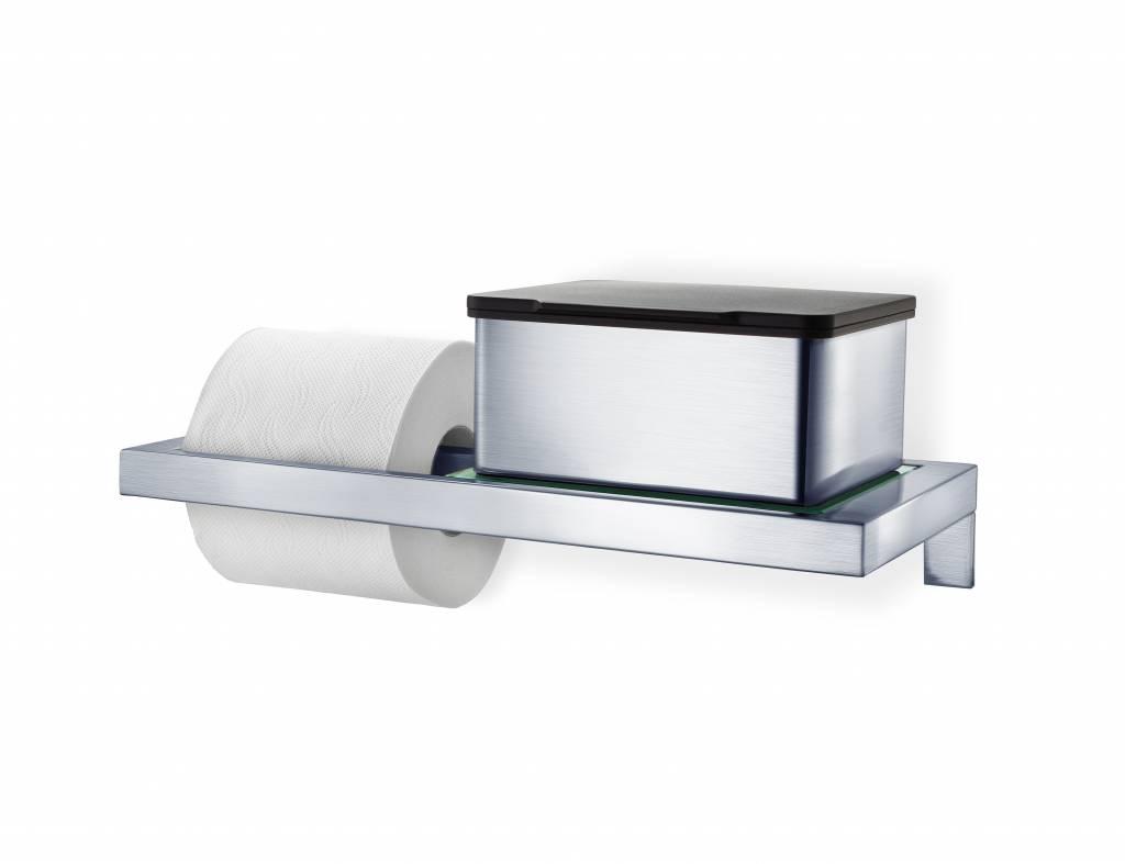 blomus menoto toilet paper holder with glass plate (gloss)   - blomus menoto toilet paper holder with glass plate (gloss)