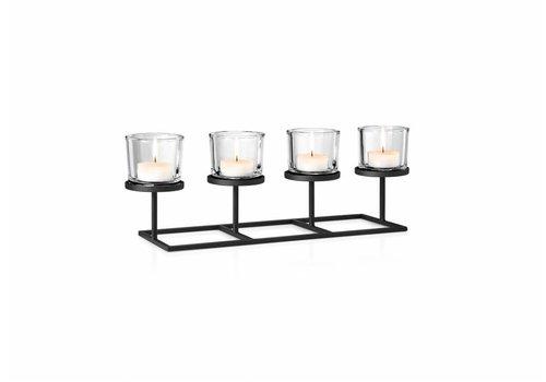 BLOMUS NERO tealight holder straight (4 candles)