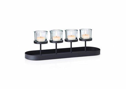 BLOMUS NERO theelichthouder recht (4 kaarsen)