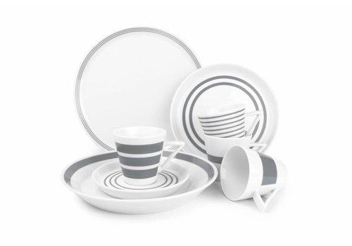 S&P STRIPES 20-piece dinnerware (gray)