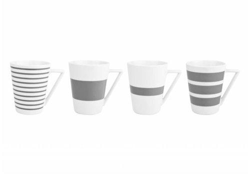S&P STRIPES cup 360 ml (gray) set / 4