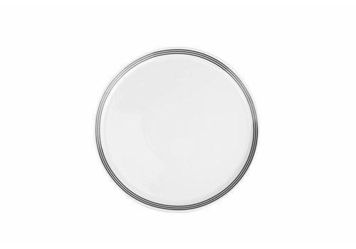 S&P STRIPES flat plate 26cm (black) set / 6