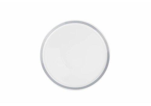 S&P STRIPES flat plate 26cm (gray) set / 6