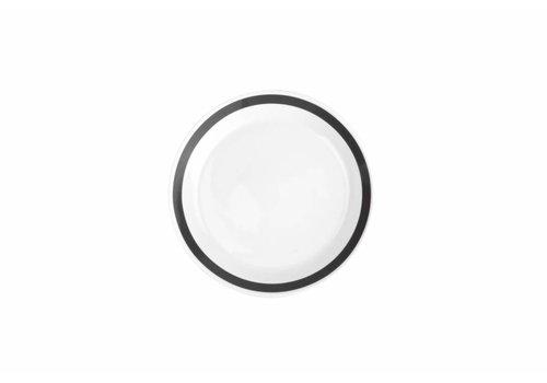 S&P STRIPES deep plate 23cm (black) set / 6