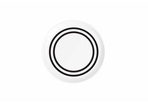 S&P STRIPES flat plate 19.5cm (black) set / 6