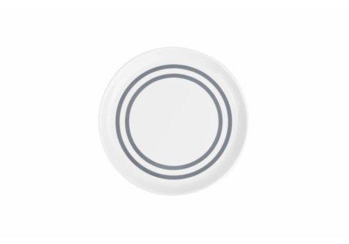 S&P STRIPES flat plate 19.5cm (gray) set / 6