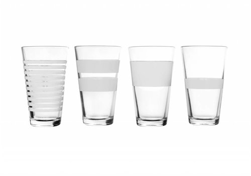 S&P STRIPELESS long drink glass 325 ml (white) set / 4