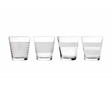 S&P STRIPELESS drinkglas 265 ml (wit) set/4