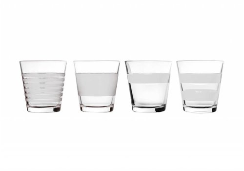 S&P STRIPELESS drinking glass 265 ml (white) set / 4