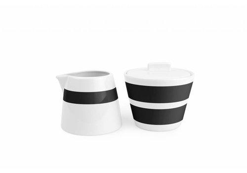 S&P STRIPES milk can and sugar pot (black)