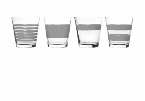 S&P STRIPES drinking glass 265 ml (gray) set / 4