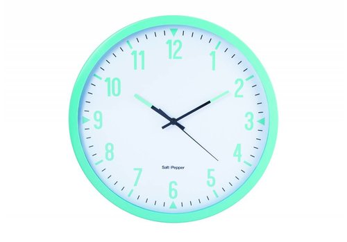 S&P ZONE wall clock Studio 44cm (light blue)