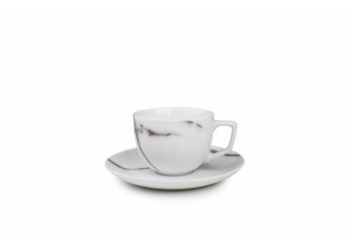 S&P MARBLE koffiekop en schotel 0.22L (set/4)